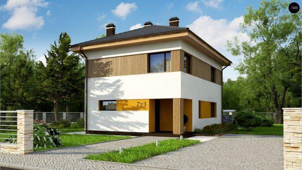 Фото 1 - Zz3 - Компактный проект двухэтажного дома.