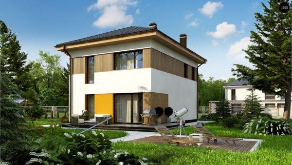 Фото 2 - Zz3 - Компактный проект двухэтажного дома.