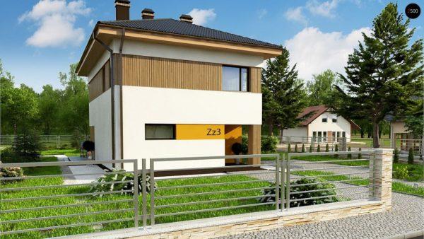 Фото 3 - Zz3 - Компактный проект двухэтажного дома.