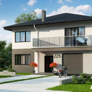 Фото 8 - Zz5 - Современный двухэтажный дом с гаражом.