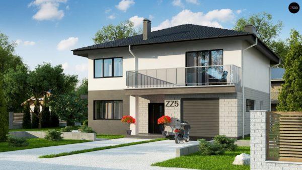 Фото 1 - Zz5 - Современный двухэтажный дом с гаражом.