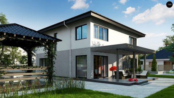 Фото 2 - Zz5 - Современный двухэтажный дом с гаражом.
