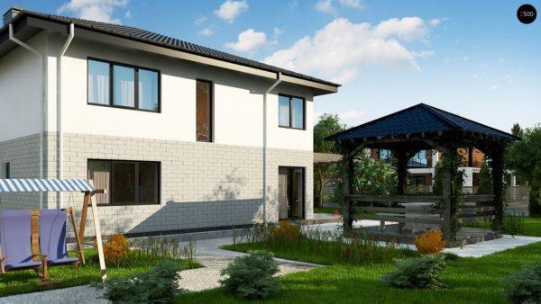 Фото 3 - Zz5 - Современный двухэтажный дом с гаражом.