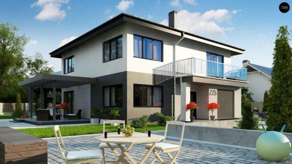 Фото 4 - Zz5 - Современный двухэтажный дом с гаражом.