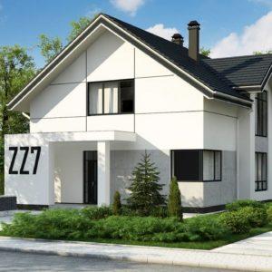 Фото 7 - Zz7 - Проект оригинального двухуровневого современного дома без гаража.