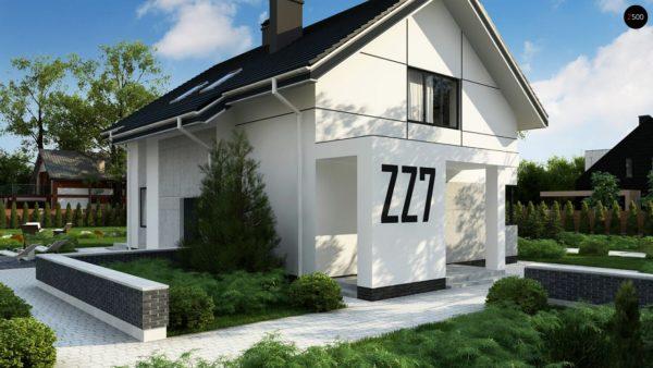 Фото 2 - Zz7 - Проект оригинального двухуровневого современного дома без гаража.