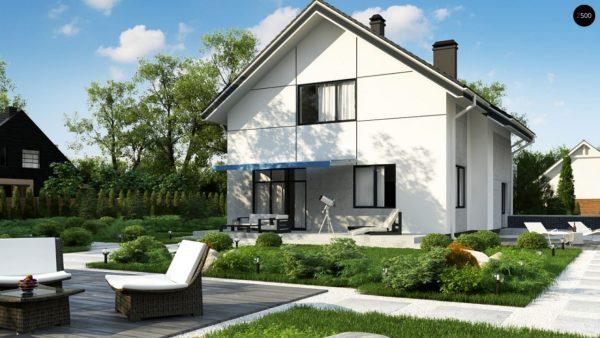 Фото 3 - Zz7 - Проект оригинального двухуровневого современного дома без гаража.