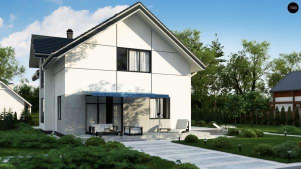 Фото 4 - Zz7 - Проект оригинального двухуровневого современного дома без гаража.