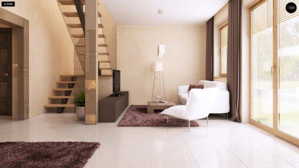 Фото 7 - Z1 bl - Версия проекта дома Z1 без люкарен.