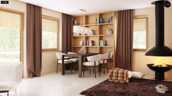Фото 9 - Z1 bl - Версия проекта дома Z1 без люкарен.