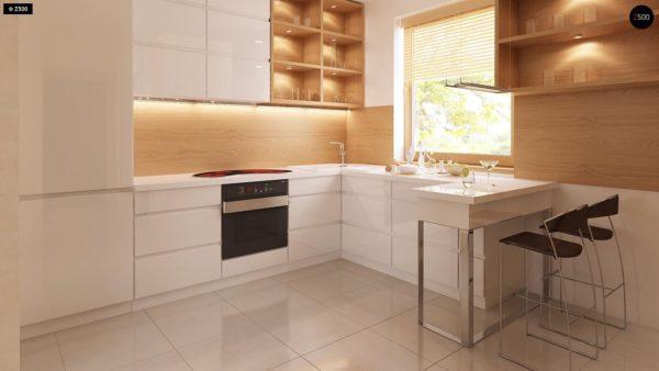 Фото 10 - Z1 bl - Версия проекта дома Z1 без люкарен.