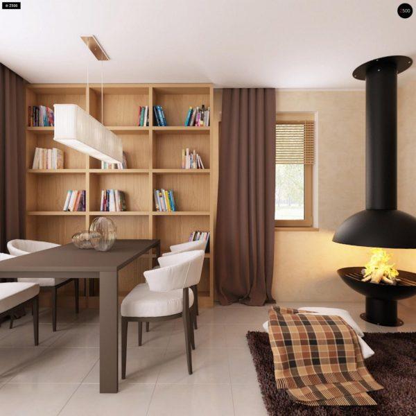 Фото 5 - Z1 bl - Версия проекта дома Z1 без люкарен.