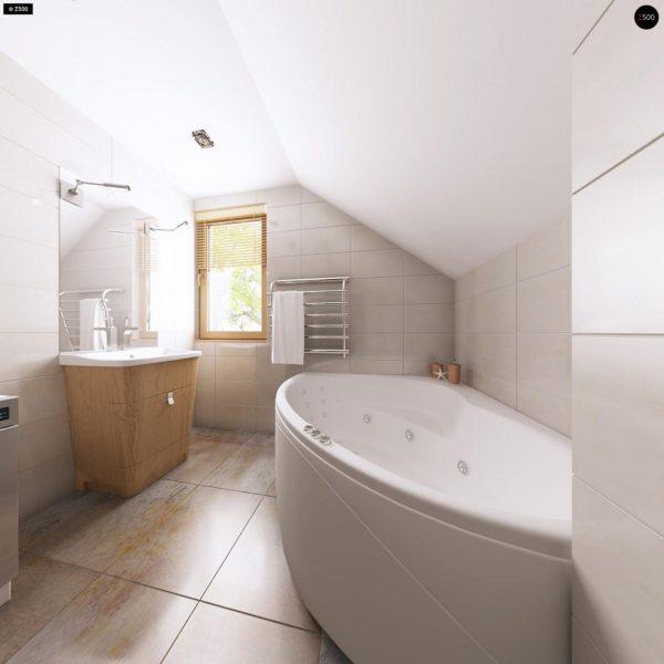 Фото 17 - Z1 bl - Версия проекта дома Z1 без люкарен.
