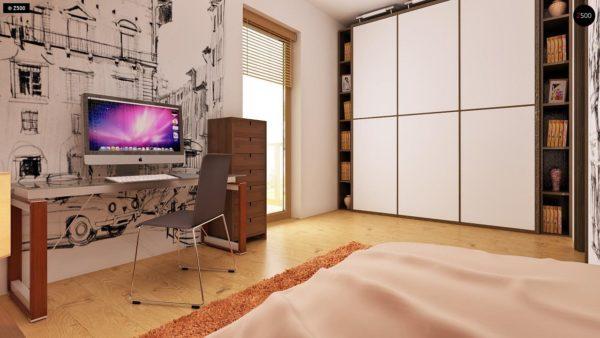 Фото 21 - Z1 bl - Версия проекта дома Z1 без люкарен.