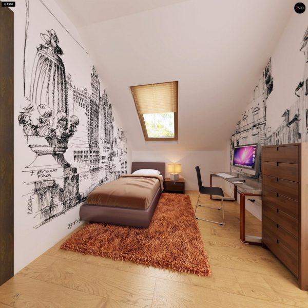Фото 19 - Z1 bl - Версия проекта дома Z1 без люкарен.