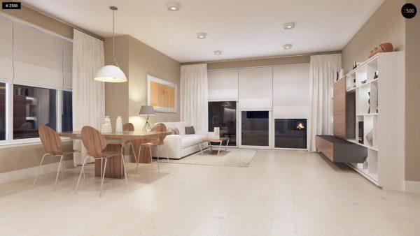Фото 5 - Z102 - Компактный дом с мансардой, эркером в дневной зоне и c кабинетом на первом этаже.