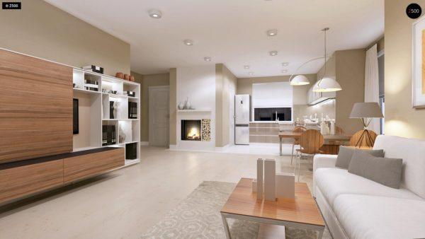 Фото 6 - Z102 - Компактный дом с мансардой, эркером в дневной зоне и c кабинетом на первом этаже.