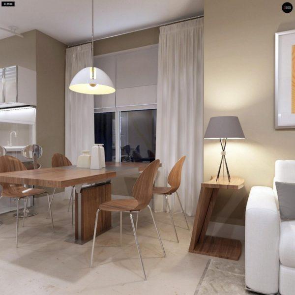 Фото 8 - Z102 - Компактный дом с мансардой, эркером в дневной зоне и c кабинетом на первом этаже.