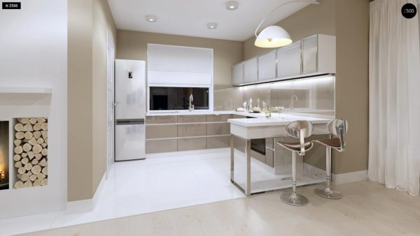 Фото 9 - Z102 - Компактный дом с мансардой, эркером в дневной зоне и c кабинетом на первом этаже.