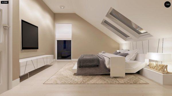 Фото 11 - Z102 - Компактный дом с мансардой, эркером в дневной зоне и c кабинетом на первом этаже.