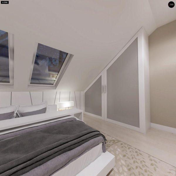Фото 12 - Z102 - Компактный дом с мансардой, эркером в дневной зоне и c кабинетом на первом этаже.