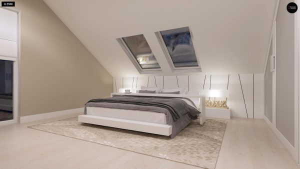 Фото 10 - Z102 - Компактный дом с мансардой, эркером в дневной зоне и c кабинетом на первом этаже.