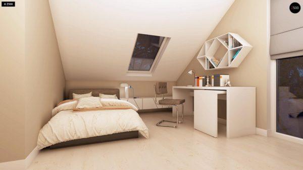 Фото 19 - Z102 - Компактный дом с мансардой, эркером в дневной зоне и c кабинетом на первом этаже.