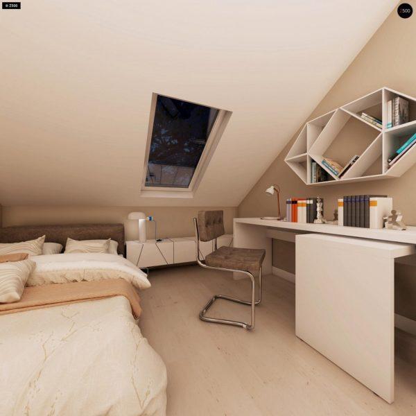 Фото 20 - Z102 - Компактный дом с мансардой, эркером в дневной зоне и c кабинетом на первом этаже.