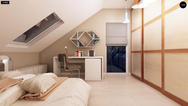 Фото 18 - Z102 - Компактный дом с мансардой, эркером в дневной зоне и c кабинетом на первом этаже.