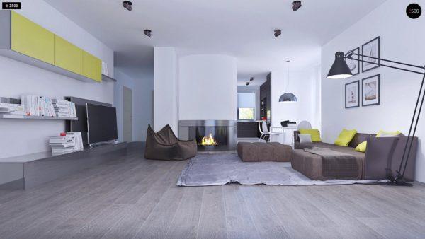 Фото 5 - Z108 - Проект функционального и удобного дома с комнатой над гаражом.