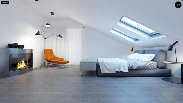 Фото 11 - Z108 - Проект функционального и удобного дома с комнатой над гаражом.