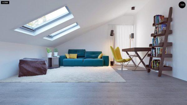 Фото 18 - Z108 - Проект функционального и удобного дома с комнатой над гаражом.