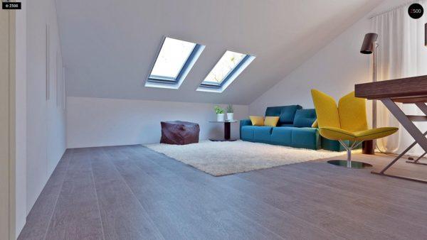 Фото 17 - Z108 - Проект функционального и удобного дома с комнатой над гаражом.