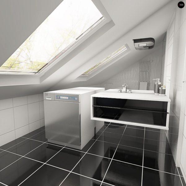 Фото 10 - Z119 - Практичный аккуратный дом с мансардой, со встроенным гаражом для одной машины.