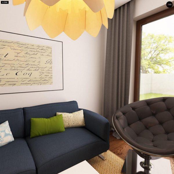 Фото 5 - Z12 - Простой в реализации дом с двускатной крышей, с возможностью обустройства мансарды.