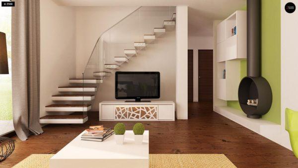 Фото 7 - Z12 - Простой в реализации дом с двускатной крышей, с возможностью обустройства мансарды.