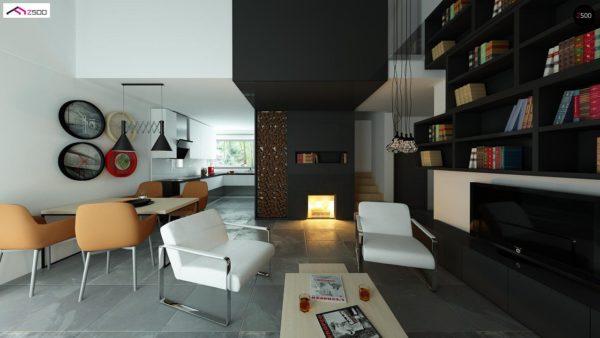 Фото 5 - Z122 - Дом со встроенным гаражом, красивым мансардным окном и вторым светом над гостиной.