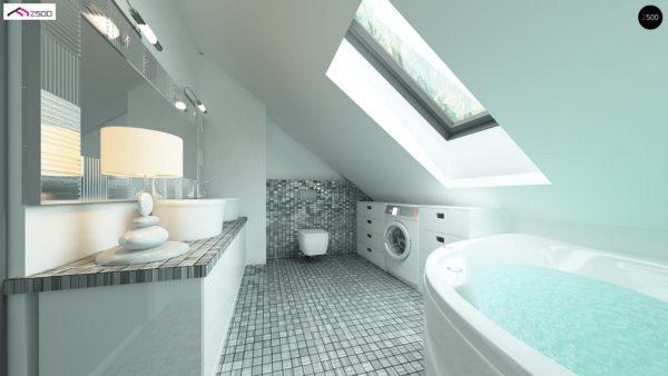 Фото 7 - Z122 v2 - Версия проекта Z122 c дополнительной комнатой на мансарде вместо нового света.