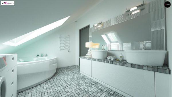 Фото 8 - Z122 v2 - Версия проекта Z122 c дополнительной комнатой на мансарде вместо нового света.