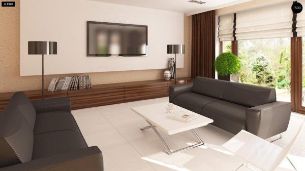 Фото 4 - Z123 - Одноэтажный дом традиционного характера с тремя удобными спальнями и встроенным гаражом.