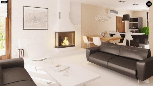 Фото 5 - Z123 - Одноэтажный дом традиционного характера с тремя удобными спальнями и встроенным гаражом.