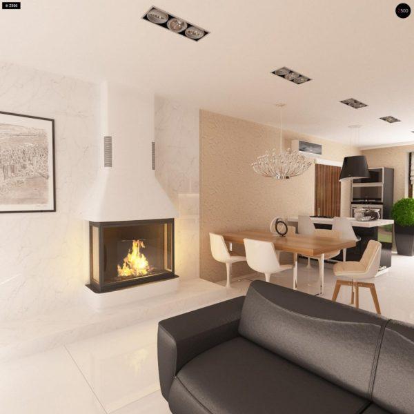 Фото 8 - Z123 - Одноэтажный дом традиционного характера с тремя удобными спальнями и встроенным гаражом.