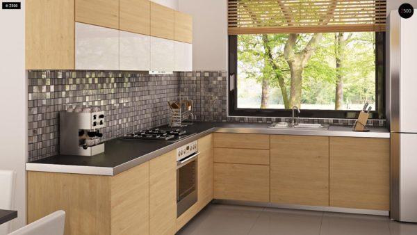 Фото 7 - Z124 - Проект функционального дома с эркером в столовой дополнительной спальней на первом этаже.