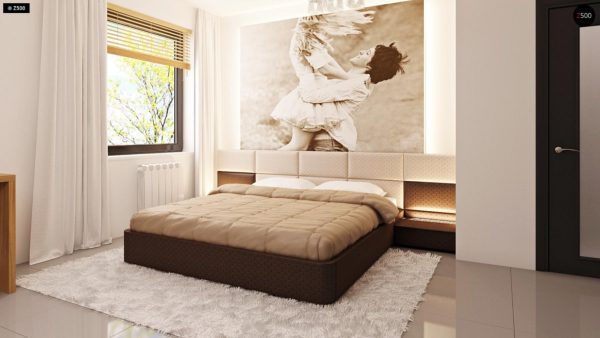 Фото 15 - Z124 - Проект функционального дома с эркером в столовой дополнительной спальней на первом этаже.