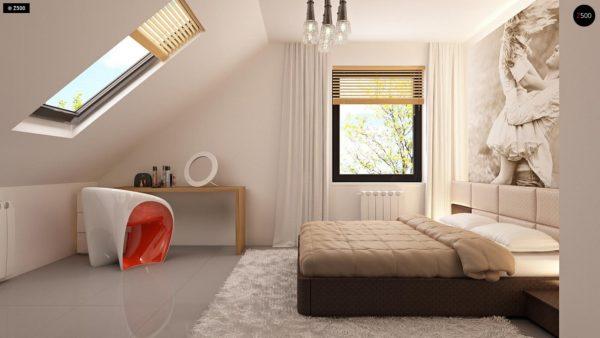 Фото 16 - Z124 - Проект функционального дома с эркером в столовой дополнительной спальней на первом этаже.