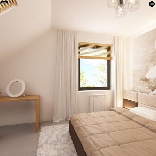Фото 14 - Z124 - Проект функционального дома с эркером в столовой дополнительной спальней на первом этаже.