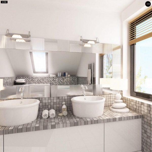 Фото 20 - Z124 - Проект функционального дома с эркером в столовой дополнительной спальней на первом этаже.