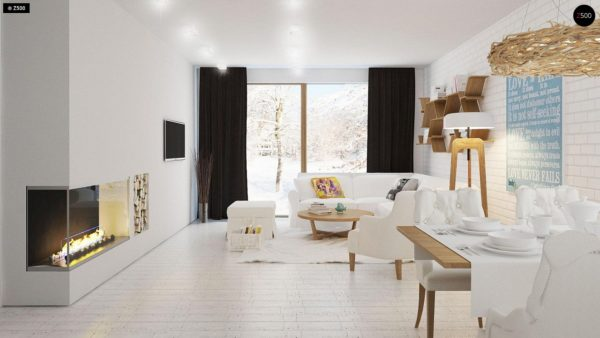 Фото 4 - Z131 - Проект традиционного одноэтажного дома с возможностью обустройства мансарды.