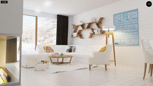 Фото 5 - Z131 - Проект традиционного одноэтажного дома с возможностью обустройства мансарды.