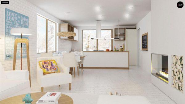 Фото 7 - Z131 - Проект традиционного одноэтажного дома с возможностью обустройства мансарды.